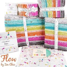 Right now in stores! FLOW by zen Chic for Moda...available and Hannah Johnson's