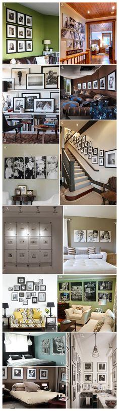 Black and White Photography Display Inspiration     #MemoriesOnDisplay