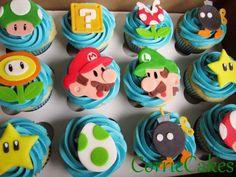 Super Mario cupcake toppers
