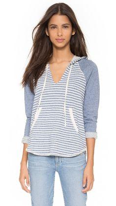 Splendid Corsica Stripe Hooded Sweatshirt