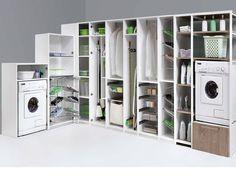 attrezzatura interna lavanderia ripostiglio stireria