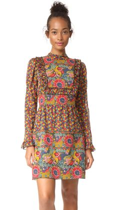 Anna Sui Lion Border Dress | SHOPBOP
