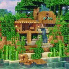 Plans Minecraft, Cute Minecraft Houses, Minecraft Houses Survival, Amazing Minecraft, Minecraft Room, Minecraft House Designs, Minecraft Houses Blueprints, Minecraft Tutorial, Minecraft Creations