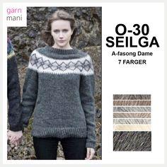 O-30 SEIGLA A-fasong Dame - Garnmani.no - Spesialist på islandsk garn Turtle Neck, Beige, Sweaters, Fashion, Threading, Model, Moda, La Mode, Pullover