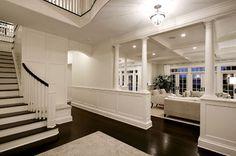 Foyer, open living room detailing