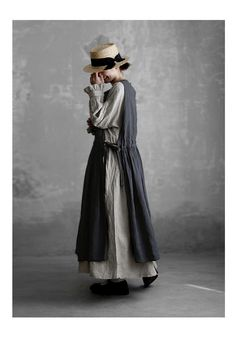 BerryStyle: Joie de Vivre Italy linen point dyeing vintage tab re-Quan peace Mori Fashion, Womens Fashion, Moda Natural, Casual Hijab Outfit, Forest Girl, Modest Wear, Apron Dress, How To Make Clothes, Baby Dress