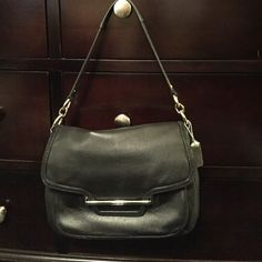 Coach Taylor shoulder bag Great used condition! Comes with crossbody strap. Trade value higher! I paid retail for this! Coach Bags Shoulder Bags