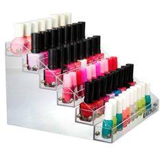Présentoir à vernis en acrylique  http://www.homelisty.com/rangement-maquillage/
