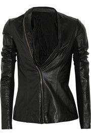 Rick OwensAsymmetric leather jacket