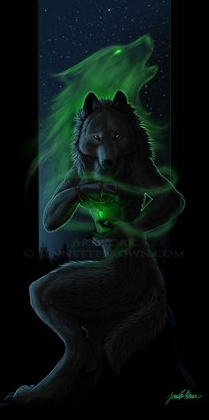Rep¡'nned from ~ Nostradamus - Jennette Brown Digital Fantasy - Wolves and Werewolves Creatures Of The Night, Magical Creatures, Fantasy Creatures, Fantasy Wolf, Fantasy Art, Of Wolf And Man, Werewolf Art, Vampires And Werewolves, Wolf Spirit