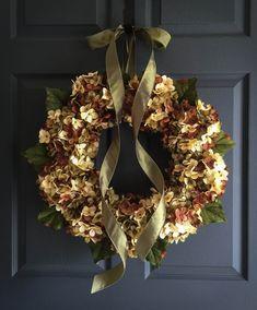 Wreaths  Summer Wreath  Blended Hydrangea by HomeHearthGarden