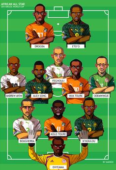 African All Star▪2014 Brazil World Cup 32 teams on Behance