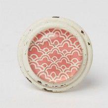 Bouton de meuble Essaouira cabochon - Rose