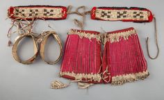 THREE PAIRS OF SIOUX QUILLED HIDE ITEMS... (Total: 6 Items) | Lot #71433 | Heritage Auctions