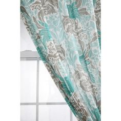 SF Home Inspiration / Gray and Teal curtains found on Polyvore
