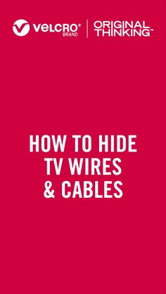 Are you tired of the cable clutter behind the TV? Do you want to get rid of all the messy Tv wires? Organise the mess in a few minutes with VELCRO® Brand ONE-WRAP®Ties!It will help you to keep all your TV wires in place and tidy. Check out these tips! #organised #organisedhome #getorganised #cableties #organising #organisation #cableorganisation #cablemanagement#homeorganising Declutter Your Home, Organize Your Life, Organisation Hacks, Home Organization, Hide Tv Wires, Hidden Tv, Cable Management, Getting Organized, Storage Solutions