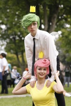 Eclectic but very cool Halloween costume party fashion Fairy Odd Parents Cosplay! I've been waiting for this!
