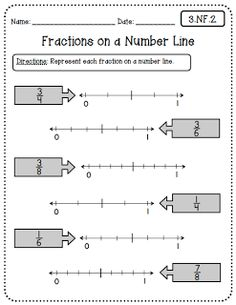 math worksheet : 1000 images about fractions for third grade on pinterest  : Fraction Number Line Worksheets