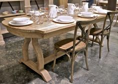 I WANT THIS TABEL!! Provence Distressed Wood Dining Table - Clayton Gray Home