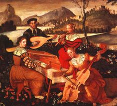 Anon: Open air Concert  Italian School 16th Century Hotel l'Allemande, Bourges.