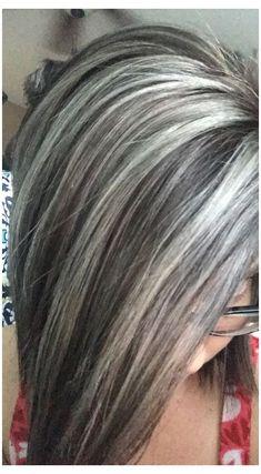 Ash Gray Hair Color, Ash Brown Hair, Silver Grey Hair, Silver Blonde, Brown Hair Colors, White Blonde, Dark Brown, Gray Color, Silver Color