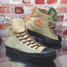 8b93d197c22f Converse Mens All Star Leather Shoes Brown sz 9 High Top Chuck Taylor Bosey  42.5