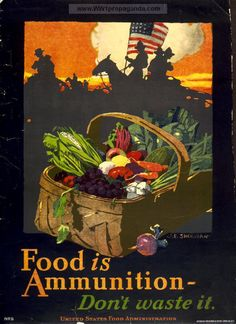 Propaganda poster on rationing during world war 1