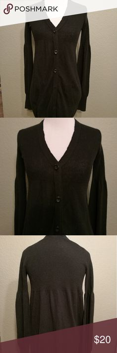 A/X Long Cardigan A long black cardigan with bell-like sleeves Armani Exchange Sweaters Cardigans