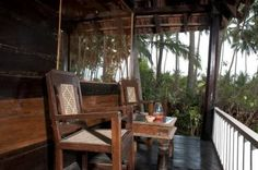 Set in a quiet beach-front property in Ashvem, amidst rich coconut groves right before rippling waters, Leela Cottages offers 10 individually designed wooden chalet style cottages. The cottages are crafted by hand and furnished with antiques and regional artifacts, each with a large bay window that offers stunning views of the palm grove and ocean beyond.