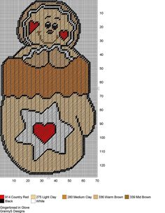 GINGERBREAD IN GLOVE by GrannyS Designs -- WALL HANGING