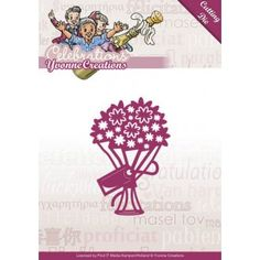 Stencil Die Yvonne Creations - Celebrations - Bouquet YCD10047