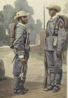 España- 1862 cuba sargento y soldado