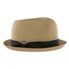 Band trimmed straw fedora hat 80% Polyester   20% Paper straw (exclusive of 0f0f21e38ad9