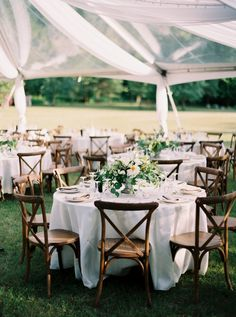 Outdoor Tented Wedding Reception In Southern Ontario Photographed By Fine Art Photographer Kayla Yestal