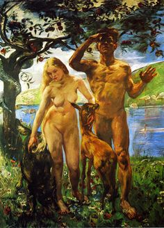 Paradise, 1911 by Lovis Corinth. Academicism, Impressionism. religious painting