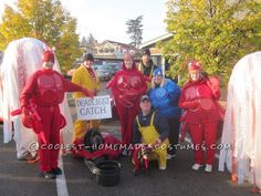 Coolest Deadliest Catch Group Costume (for Dogs, too!) ... This website is the Pinterest of costumes