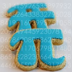 Pi cookies for Pi Day (3.14). For the math nerd in your life.