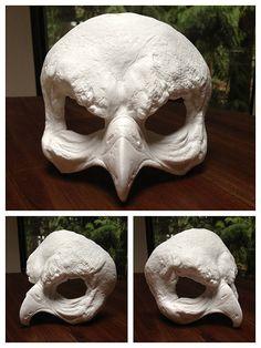 Bird Skull Masquerade DIY Blank Mask by CreaturesGrimm on Etsy