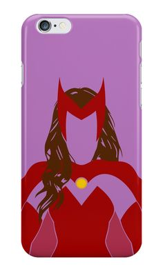 """Scarlet Witch Minimalist Art"" iPhone Cases & Skins by adesigngeek 