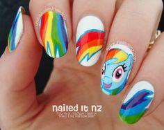 My Little Pony Nail Art | Rainbow Dash + Tutorial!