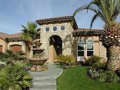 I love the tuscan style houses