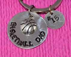 Basketball Dad | Basketball Gifts | Basketball Dad Keychain | Gift for Dad | Dad Gifts | Dad gift from daughter  | Dad Gift from Son | by charmedbykobe on Etsy