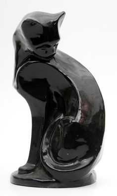 Two favorites together-Art Deco and black cats! ES Art Deco black cat.