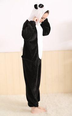 LIHAO Panda Onesie Pyjamas Schlafanzug unisex Erwachsene Nachtwäsche Anime Cosplay Halloween Kostüm Kleidung Tier  - http://www.amazon.de/dp/B00UFCJI6U