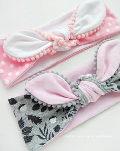 baby turbans and headbands Diy Baby Headbands, Baby Hair Bows, Diy Headband, Baby Sewing Projects, Sewing For Kids, Couture Bb, Baby Accessoires, Baby Turban, Sewing Clothes