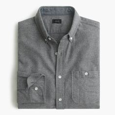 J.Crew - Tall cotton-wool elbow-patch shirt in solid