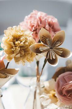 DIY paper flower decor