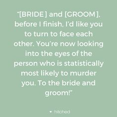 Wedding Speech Quotes A Toast For The Bride And Groom Funny Quotes  Pinterest