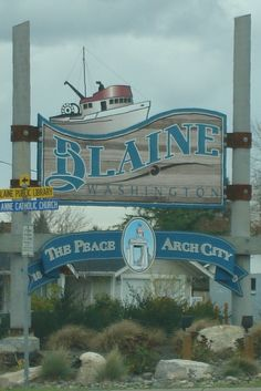 This is the town that Rob and I want to retire in someday...Blaine, Washington.