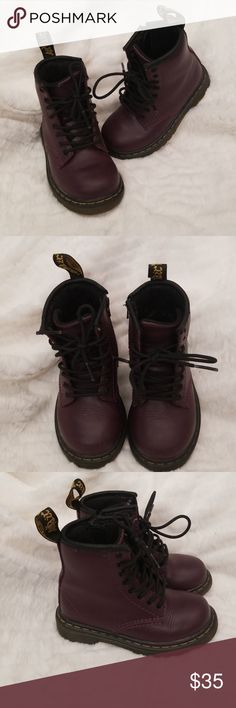 0c13eeed555 Toddler Dr. Martens (Brooklee Style) Plum colored and nearly in brand new  condition